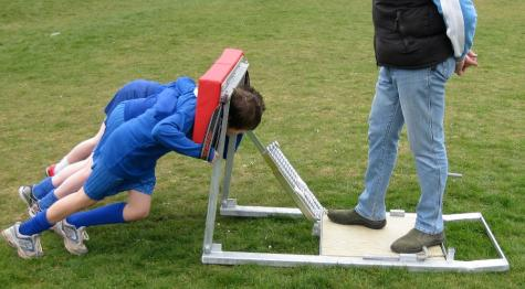 School Kids using Scrum Machine